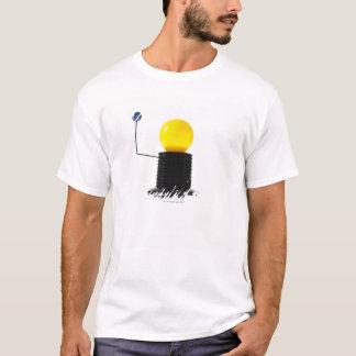 Earth rotating sun model on white background T-Shirt