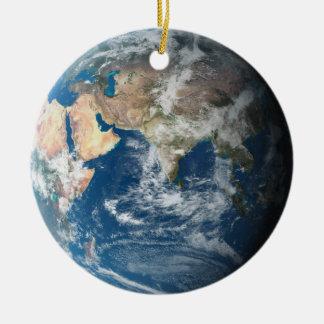 Earth Round Ceramic Decoration