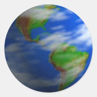 EARTH ROUND STICKER