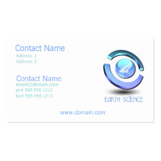 Earth Science Business Card