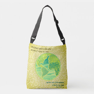 Earth Scripture Collage Crossbody Bag