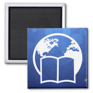 Earth Searches Pictograph Square Magnet
