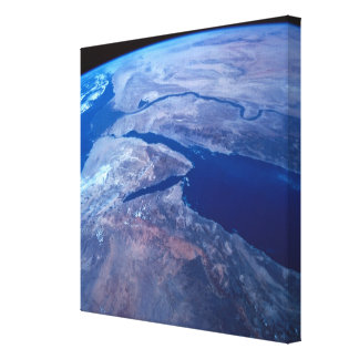 Earth Seen from a Satellite 2 Canvas Print