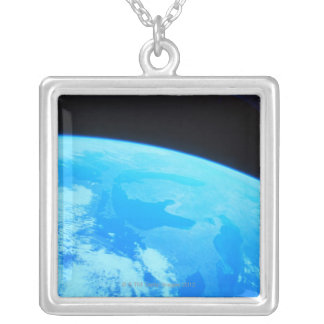 Earth Seen from a Satellite 2 Silver Plated Necklace