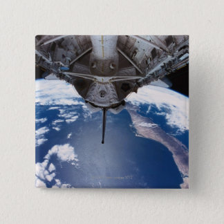 Earth seen from a Space Shuttle 15 Cm Square Badge