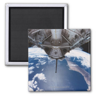 Earth seen from a Space Shuttle Square Magnet