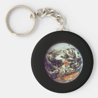 Earth, seen from Apollo 17, 1972, courtesy of NASA Basic Round Button Key Ring