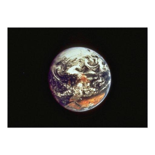 Earth, seen from Apollo 17, 1972, courtesy of NASA Custom Invitations