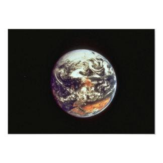 Earth, seen from Apollo 17, 1972, courtesy of NASA 5x7 Paper Invitation Card