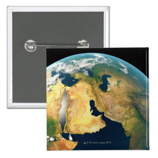 Earth Seen from Space 15 Cm Square Badge
