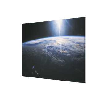 Earth seen from Space Stretched Canvas Prints