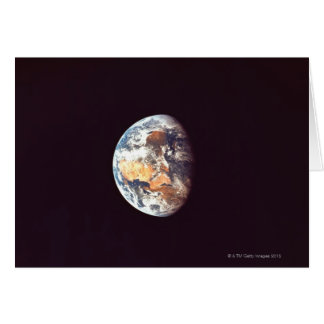 Earth Seen from Space Greeting Card