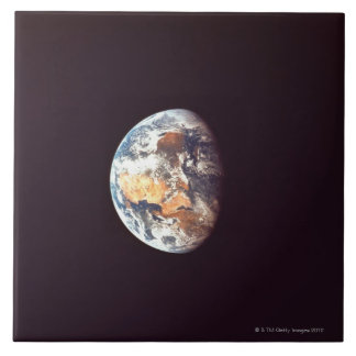 Earth Seen from Space Large Square Tile