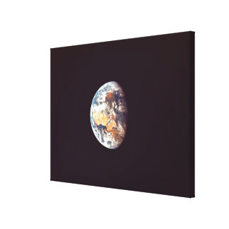 Earth Seen from Space Stretched Canvas Print