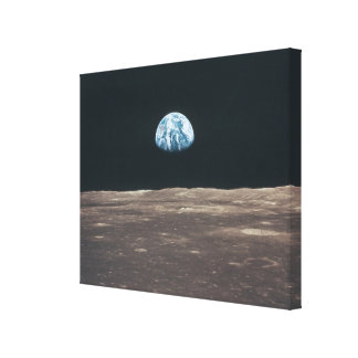 Earth Seen from the Moon Canvas Print