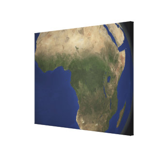 Earth showing landcover over Africa Canvas Print