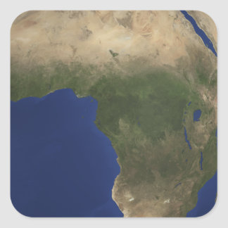 Earth showing landcover over Africa Square Sticker