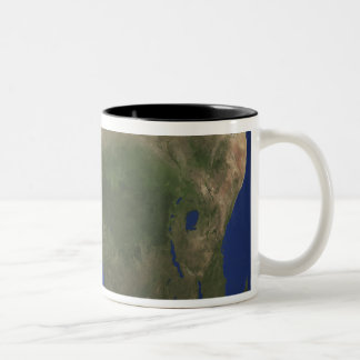 Earth showing landcover over Africa Two-Tone Coffee Mug