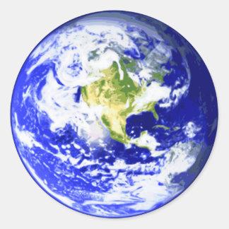 Earth Solar System Classic Round Sticker