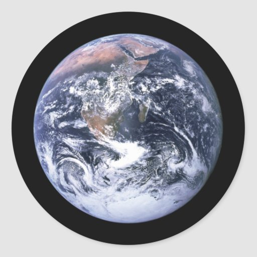Earth Round Stickers