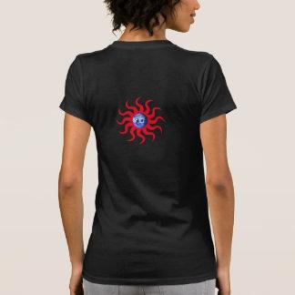 """EARTH SUN"" symbol/red T-Shirt"