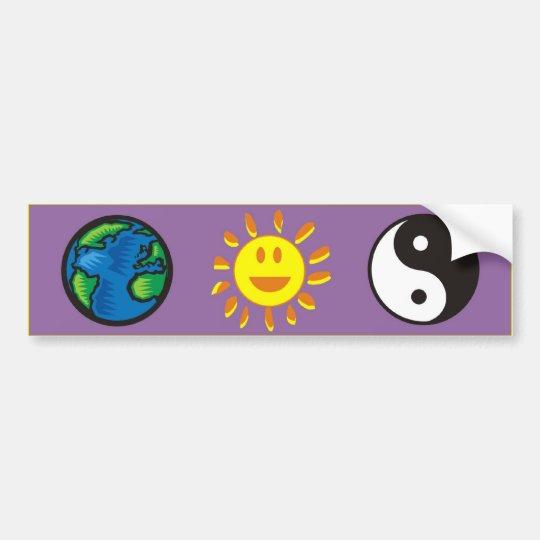earth-sun-yin yang bumper sticker