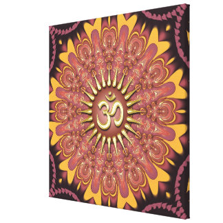 Earth Sunshine Aum New Age Wrapped Canvas Gallery Wrapped Canvas