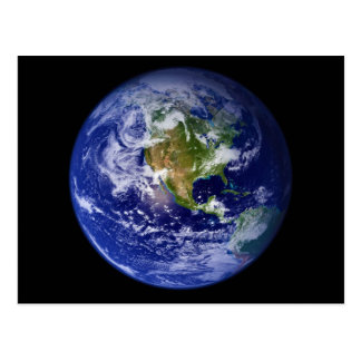 Earth The Beautiful Blue Marble Postcard