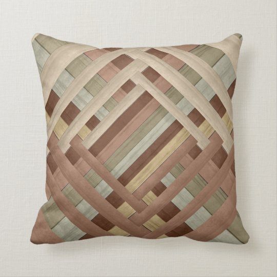 Earth Tone Abstract Weave Designer Style Cushion