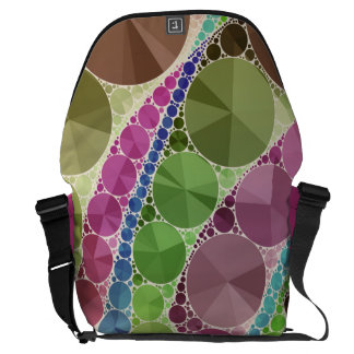 Earth Tone Bling Abstract Pattern Messenger Bag