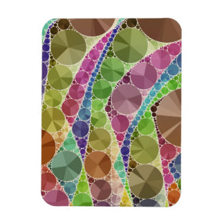 Earth Tone Bling Abstract Pattern Rectangular Photo Magnet