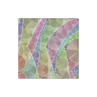 Earth Tone Bling Abstract Pattern Stone Magnet