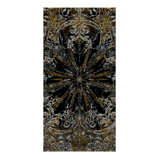 Earth tone floral poster