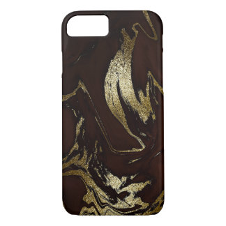 Earth Tone Marble Brown Gold Black iPhone Samsung iPhone 8/7 Case