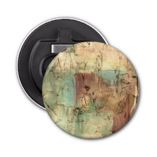 Earth Tone Painting with Cracked Surface Bottle Opener