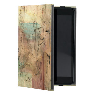 Earth Tone Painting with Cracked Surface Cover For iPad Mini