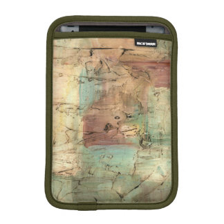 Earth Tone Painting with Cracked Surface iPad Mini Sleeve