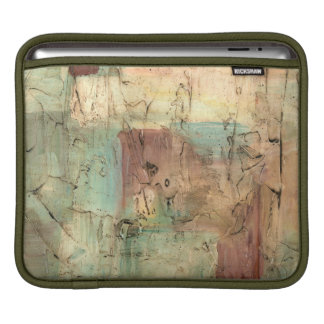 Earth Tone Painting with Cracked Surface iPad Sleeve