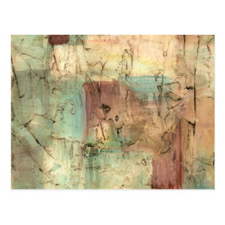 Earth Tone Painting with Cracked Surface Postcard