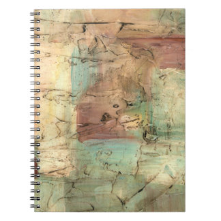 Earth Tone Painting with Cracked Surface Spiral Notebook