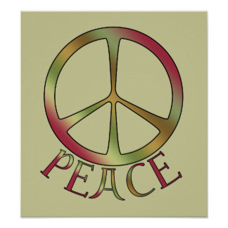 Earth Tone Peace Posters