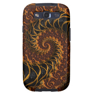 Earth Tone Spiral Fractal Galaxy SIII Case