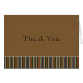 Earth Tone Stripes Greeting Card