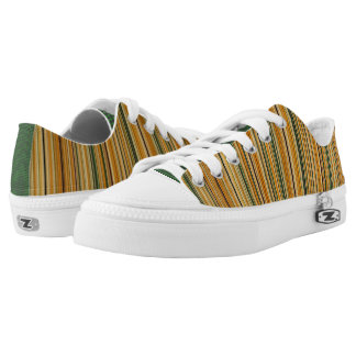 Earth Tone Stripes Low Tops