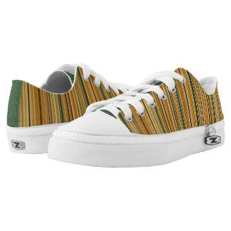 Earth Tone Stripes Printed Shoes