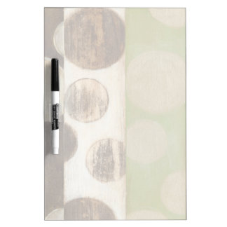Earth Tone Wood Panel Painting with Circles Dry Erase Board
