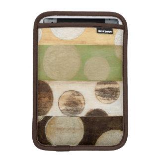 Earth Tone Wood Panel Painting with Circles iPad Mini Sleeve