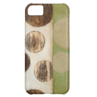 Earth Tone Wood Panel Painting with Circles iPhone 5C Case