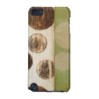 Earth Tone Wood Panel Painting with Circles iPod Touch 5G Covers