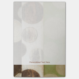 Earth Tone Wood Panel Painting with Circles Post-it® Notes